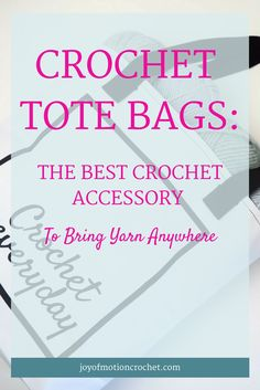 Crochet tote bags | crochet tote bag | crochet bag | crochet project bag | crochet accessory | crochet accessories  via @http://pinterest.com/joyofmotion/
