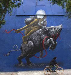 """786 curtidas, 4 comentários - @tschelovek_graffiti no Instagram: """"@graficamazatl +@fusca667 in Mexico City for #cromática #cromatica @mixercreativo #mixercreativo.…"""""""