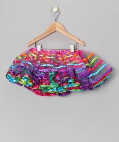 Look at this #zulilyfind! Rainbow Ribbon Tutu - Girls by Seesaws & Slides #zulilyfinds