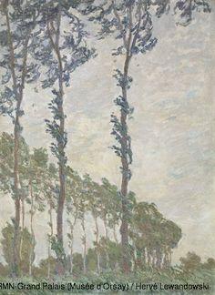Claude Monet,Wind Effect, Series of The Poplars,© RMN-Grand Palais (Musée d'Orsay) / Hervé Lewandowski