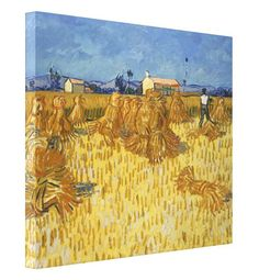 Vincent van Gogh: Corn Harvest in Provence, Oil on canvas, 51 x 60 cm. The Israel Museum, Jerusalem Art Van, Van Gogh Art, Vincent Van Gogh, Van Gogh Pinturas, Painting Prints, Art Prints, Van Gogh Paintings, Artwork Paintings, Farm Paintings