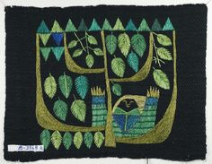 Sweden, Broidery, 1972 l Kuddöverdraget belongs to the handicraft of the Uppsala County handicraft association during the years Scandinavian Embroidery, Swedish Embroidery, Wool Embroidery, Embroidery Needles, Modern Embroidery, Embroidery Patterns, E Craft, Wool Quilts, Fabric Yarn
