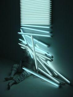 Light Sculptures By