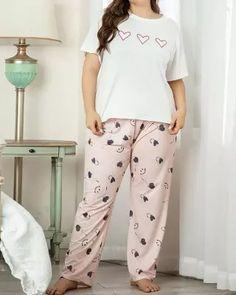 Long Nightdress, Sleepwear Sets, Occasion Wear, Printed Shorts, Nightwear, Lounge Wear, Crew Neck, Dressing, Short Sleeves