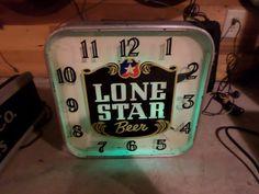 LONE STAR BEER NEON CLOCK LACKNER-ORIGINAL