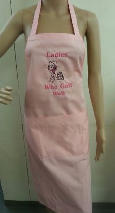 Golf and aprons, a match made in heaven Novelty Aprons, Made In Heaven, Match Making, Golf, Lady, Pink, How To Make, Fashion, Moda