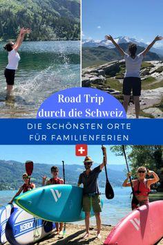 Statt durch Afrika zu reisen, haben wir in diesem Corona-Sommer einen Roadtrip durch die Schweiz unternommen. Was wir zuerst als Second Best Lösung betrachteten, entpuppte sich als besonderes Highlight. Wir waren wandern und baden, haben Natur, Städte, Gletscher, Bergen und Seen entdeckt. Die besten Tipps für Familienferien in der Schweiz haben wir für euch zusammengestellt. #Familienferien #Schweiz #DieAngelones Seen, Roadtrip, Happy, Movies, Movie Posters, Corona, Family Getaways, Caribbean, Road Trip Destinations