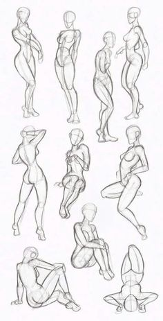 Drawing Refrence || Female poses PIN up poses