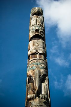 Totem Pole, Vancouver by soilse, via Flickr