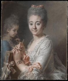 Portrait of Mrs. Theodore and Suzanne Lacroix-Félicité by Jean Valade, 1775