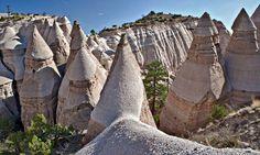 Kasha-Katuwe Tent Rocks national monument, New Mexico. Photograph: Alamy