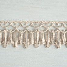 Organic lace trim 45 mm wide natural ecru cotton colour undyed, multi-dropwww.lancasterandcornish.com #bridal #wedding #trim #lampshade #dressmaking #sewing #millinery #lingerie
