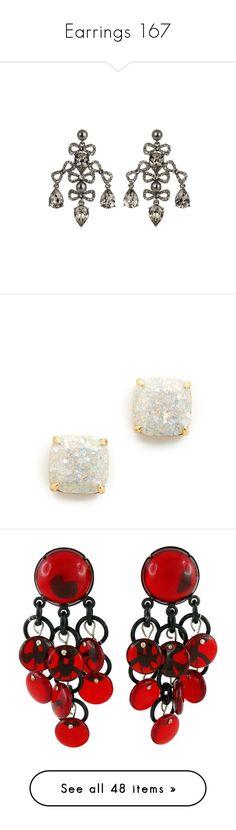 """Earrings 167"" by singlemom ❤ liked on Polyvore featuring jewelry, earrings, bow stud earrings, swarovski crystal jewelry, vintage style jewelry, chandelier jewelry, vintage style jewellery, kate spade, round stud earrings and earring jewelry"