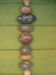 Message on rocks