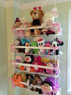 Stuffie Holder & 18 Genius Stuffed Animal Storage Ideas | Pinterest | Stuffed animal ...