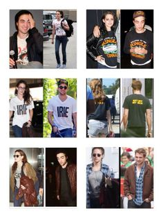 More examples of Kristen stealing Rob's clothes....