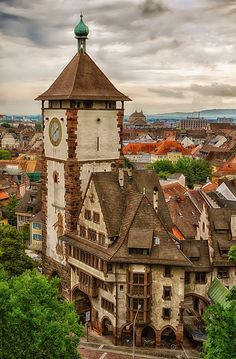 Freiburg, Germany. Beautiful old architecture.