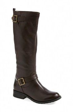 4401c4007ca 'Burton' Moto Boot (Women) Dark chocolate and wine colored boots are a  subtle way to give more personality and uniqueness to this wardrobe staple.