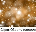 Clipart Sparkly Gold Christmas Background With Flares And Bursts Royalty Free CGI Illustration by KJ Pargeter