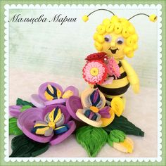 Пчелка Майя в технике квиллинг. Quilling