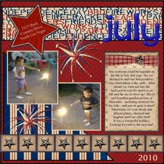 Independence Day / 4th of July scrapbook page