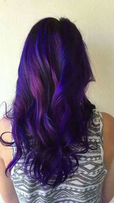 Galaxy hair - Looking for Hair Extensions to refresh your hair look instantly? KINGHAIR® only focus on premium quality remy clip in hair. Dip Dye Hair, Dye My Hair, Violet Hair, Purple Hair, Turquoise Hair, Neon Hair, Beautiful Hair Color, Cool Hair Color, Corte Y Color