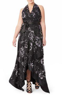 Mynt 1792 Handkerchief Hem Floral Burnout Gown (Plus Size) available at #Nordstrom