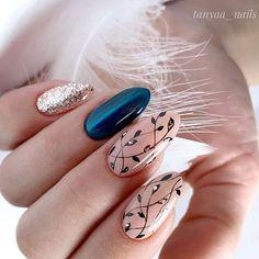Glitter Gel Nails, Gel Acrylic Nails, Fabulous Nails, Perfect Nails, Love Nails, My Nails, Nail Art Techniques, Cute Nail Art Designs, Pedicure Nail Art