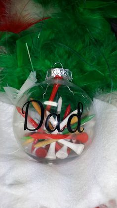 PERSONALIZED Golf Tee ornament by SpareTimeSquared on Etsy