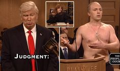 Alec Baldwin reprises Trump and takes federal judges to People's Court