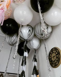 Black and white and Marble Love A sneak peak of an event styled by @sugarcoatedcandydessertbuffets #marbleballoons #balloonsmelbourne. #giantballoons