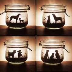 Dog jar light can be made with any breed lit with a