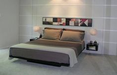 Super-elegant platform bed made from doors.
