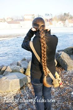Haartraum goes Wordpress Two Braids, Braids For Long Hair, Braid Hair, Girl Hairstyles, Braided Hairstyles, Beautiful Long Hair, Amazing Hair, Long Hair Video, Hair Videos