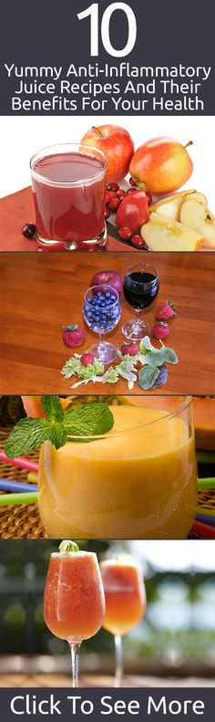 10 Yummy Anti-Inflammatory Juice Recipes And Their Benefits For Your Health juicing recipes Healthy Juices, Healthy Drinks, Get Healthy, Yummy Drinks, Healthy Snacks, Juice Recipes, Smoothie Recipes, Quorn Recipes, Diet Recipes