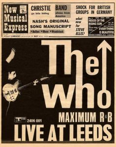 The Who on the cover of New Musical Express, 1960s.