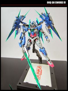 MG 1/100 00 Qan [T] Quanta with 2 GN Sword IV- Custom Build - Gundam Kits Collection News and Reviews