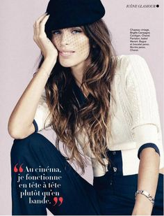 French actress Maiwenn Le Besco photographed by Paul Schmidt for the cover shoot of the fashion magazine Glamour France for their January 2013 issue.