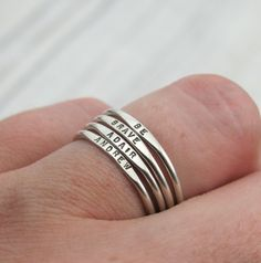 Tiny Stacking Posey Ring custom made ring with by KathrynRiechert