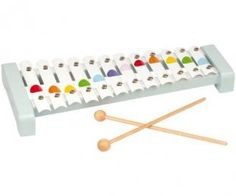 A stylish 12 note metal xylophone with 2 drumsticks in Janod confetti styling. Phil And Teds, Rainbow Theme, Rainbow Toys, Plan Toys, Musical Toys, Porno, Twinkle Twinkle Little Star, Toys Online, Holidays With Kids