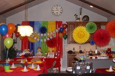 Colorful Elmo Sesame Street Party #elmoparty #sesamestreet