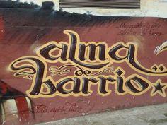 """Alma de Barrio. Mural dedicado a """" Papi"""" en Boca Nord. El Carmel La piel de Barcelona. Graffitis & Murales / Juan José Fernández. Homenatge als artistes murals de Barcelona,  des dels anys setanta fins ara"""