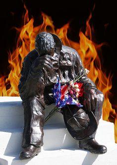 Fallen Fire Fighter Memorial Statue, Colorado Springs, CO