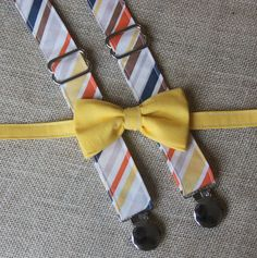 Hey, I found this really awesome Etsy listing at https://www.etsy.com/listing/175943158/yellow-bow-tie-and-navy-orange-yellow