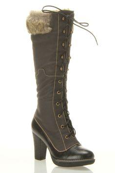 Hero Heel Boots In Black   Beyond the Rack