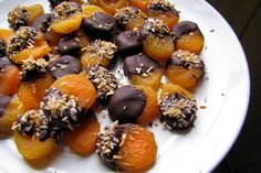 Chocolate-Dipped Apricots With Coconut Flakes | 35 Insanely Easy Desserts Made With 5 Ingredients Or Less