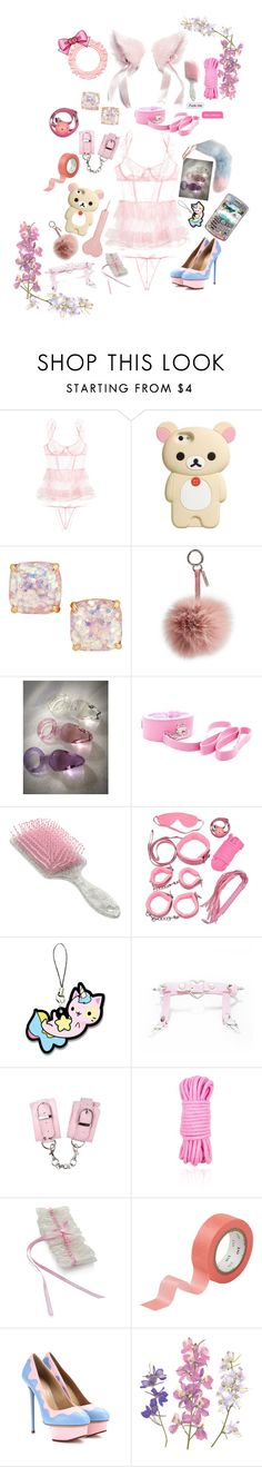 """""""dd/lg ; petplay"""" by xkitten-pokerx ❤ liked on Polyvore featuring Victoria's Secret, Kate Spade, Fendi, Avery, Trasparenze, CB2 and Charlotte Olympia"""
