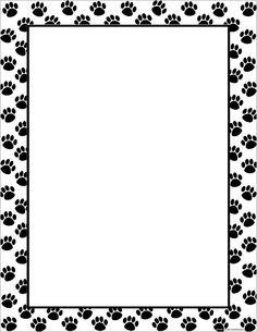 Dog Bone Border With Paw Prints And Dog Bones Royalty Free
