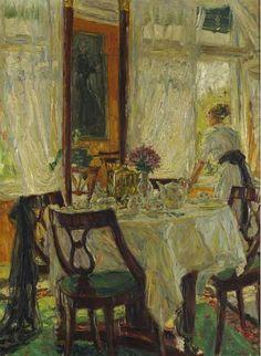 Fritz Beckert  The Luncheon Table  1919
