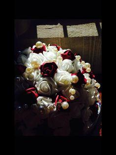 Valentine pearlised roses.